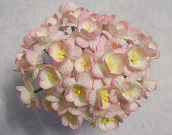 30 Paper Flowers Size 1 Mulberry Paper Craft Flower Etsy
