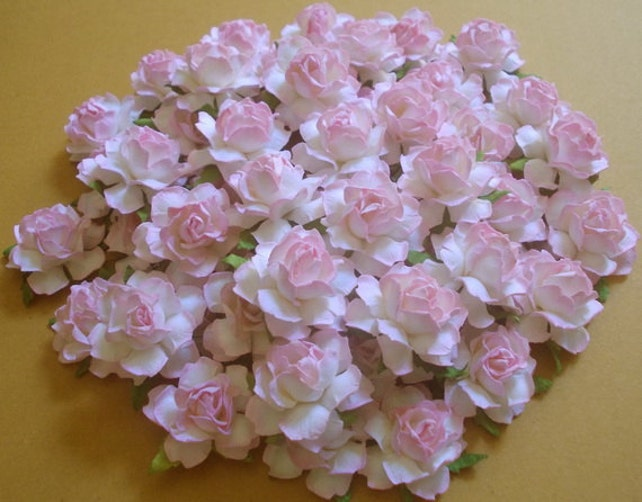25 Paper Flowers Size 15 Mulberry Paper Craft Flower Etsy