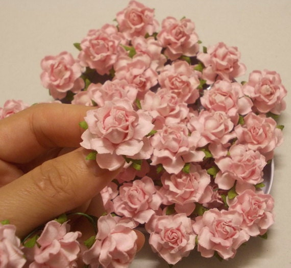 25 Paper Flowers Size 1 Mulberry Paper Craft Flower Etsy