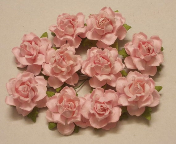 10 Paper Flowers Size 1 Mulberry Paper Craft Flower Etsy