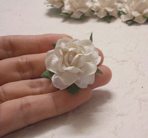 10 Paper Flowers Size 15 Mulberry Paper Craft Flower Etsy