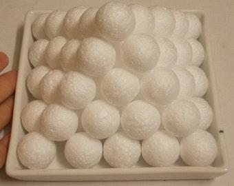 """50 Styrofoam balls (Size 25 MM or 1"""") Styrofoam balls supplies, White styrofoam ball."""