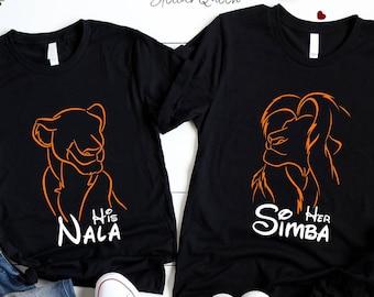 fed5798d9 Simba and Nala Disney couple shirts, Disney matching shirts, Couple matching