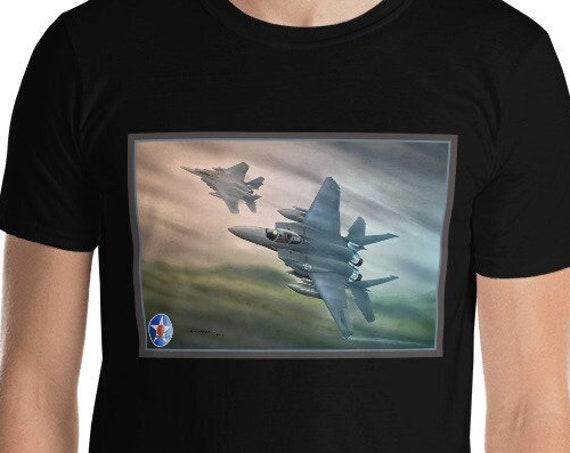 "F-15E Strike Eagle ""Dawn Over Eastern Europe""  Short-Sleeve Unisex T-Shirt"