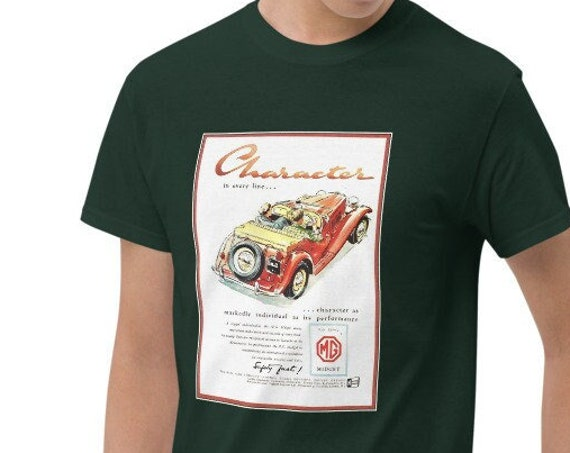 RED MG TD Short Sleeve T-Shirt, Various Sizes And Colors