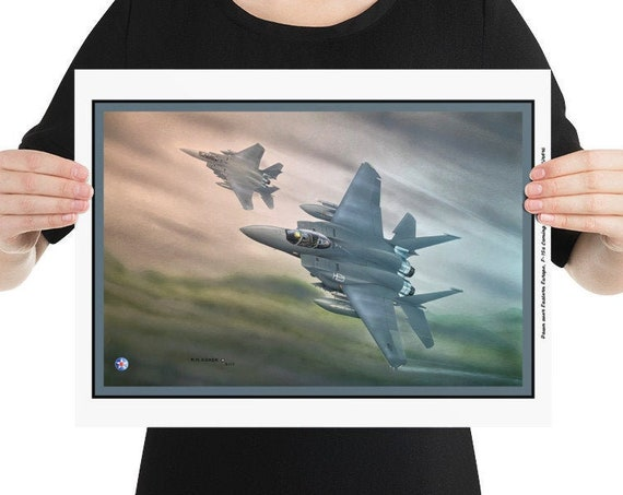 """Poster / Print,  F-15E Strike Eagle """"Dawn Over Eastern Europe"""""""