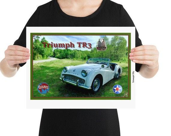 "Poster / Print, Triumph TR3, 12"" x 16"" -or- 16""x 20"""