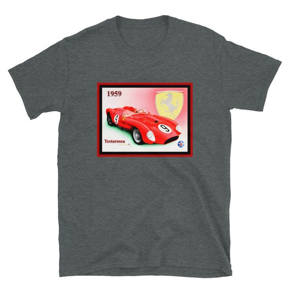 Short-Sleeve Unisex T-Shirt, 1959 Ferrari Testarossa
