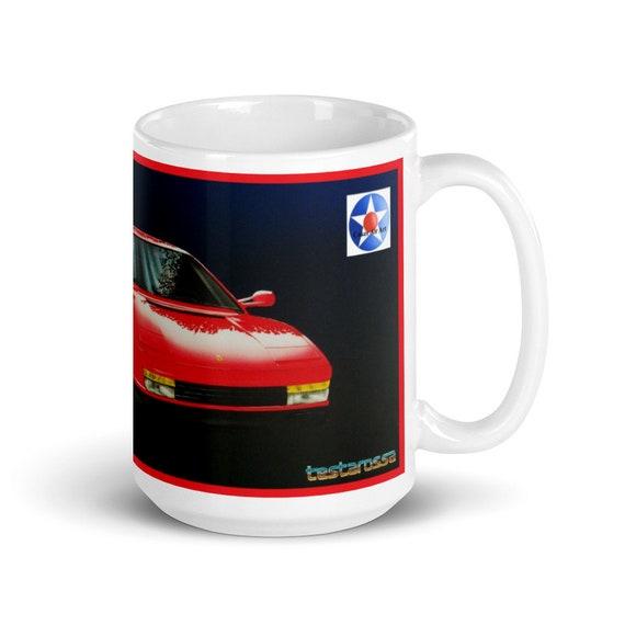 1984 Ferrari Testarossa -LARGE White glossy mug