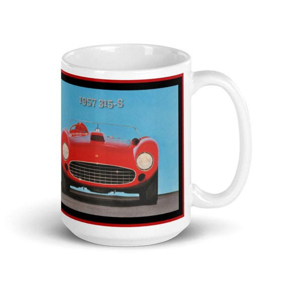 1957 Ferrari 315-S -Large White glossy mug