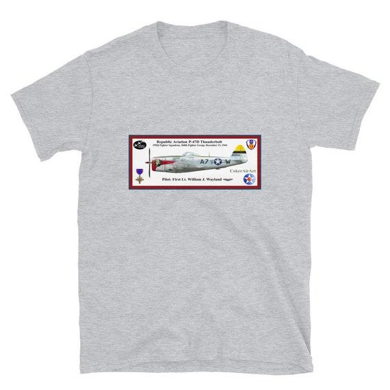 "Republic Aviation P-47 Thunderbolt ""Sleepy Jean"" -Short-Sleeve Unisex T-Shirt"