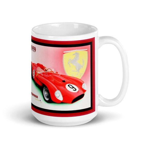 Classic 1959 Ferrari Testarossa - Large White glossy mug