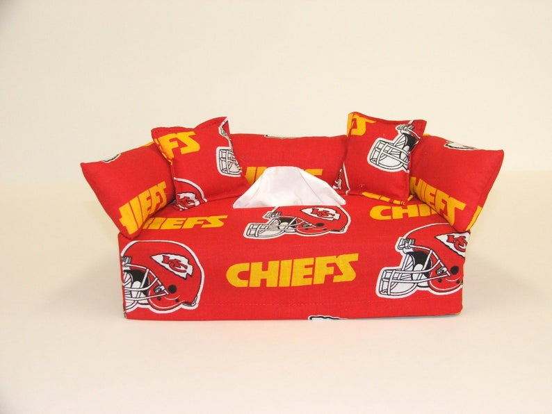 Remarkable Kansas City Chiefs Nfl Licensed Fabric Tissue Box Cover Includes Tissue Bralicious Painted Fabric Chair Ideas Braliciousco