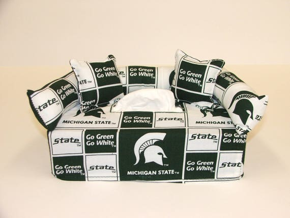 Stupendous Michigan State University Licensed Fabric Tissue Box Cover Kleenex Box Cover Includes Tissue Andrewgaddart Wooden Chair Designs For Living Room Andrewgaddartcom