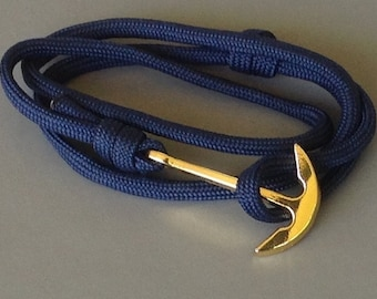 navy blue anchor on Paracord Bracelet