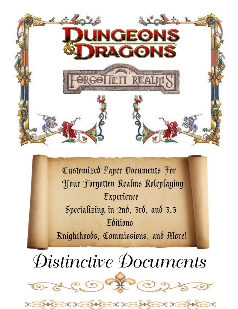 DD Forgotten Realms Customized Documents