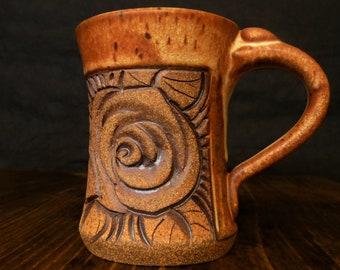 Small Tan rose mug