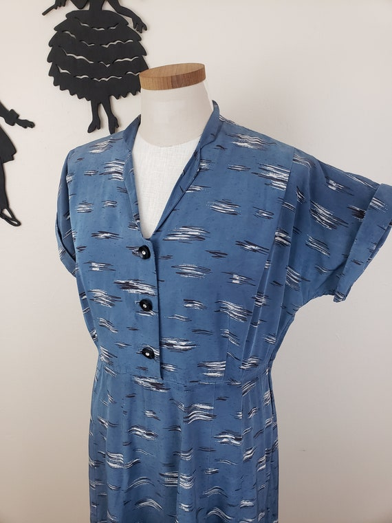 Vintage 1940's Shirtwaist Dress / 50s Plus Size Da