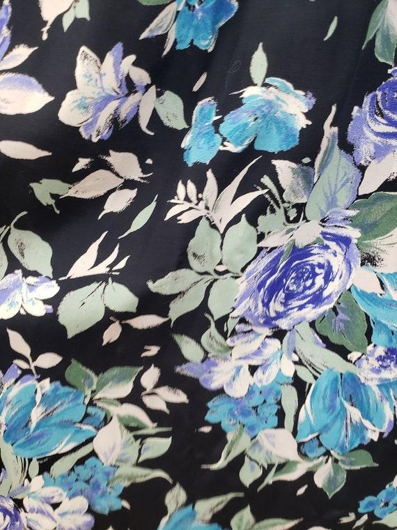 Vintage 1980's Laura Ashley Dress / 90s Rose Flor… - image 9