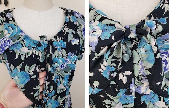 Vintage 1980's Laura Ashley Dress / 90s Rose Flor… - image 6
