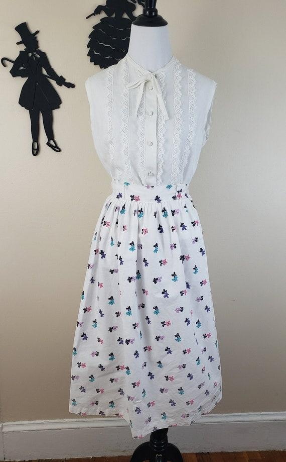 Vintage 1950's Novelty Print Skirt / 50s Butterfly