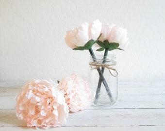 pale champagne peony pen flower pens party favors wedding pen wedding favors bridal shower favors guest book pen