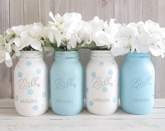 Mason Jar Centerpieces Baby Shower Etsy