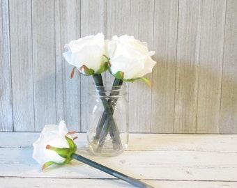 white rose pen flower pens wedding pens flower party favors bridal shower favors wedding rose favors