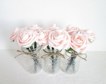 blush wedding favors blush rose pen flower pens bridal shower favors baby shower favors foam rose pens pink flower pen