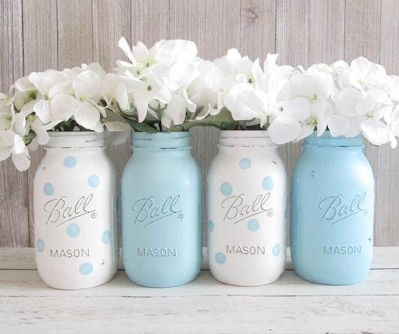 Baby Shower Decorations Using Mason Jars  from i.etsystatic.com