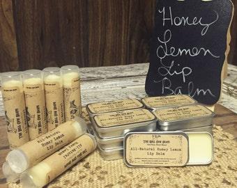 All-Natural Honey Lemon Lip Balm, Honey Lip Balm, Lip Balm, Natural Lip Balm, Lip Chap, Lip Cream, Honey, Lemon