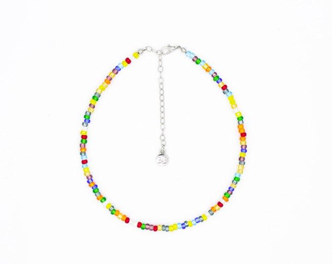 Featured listing image: Beaded Choker - Rainbow Dreams
