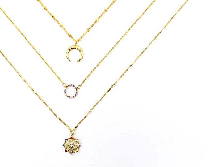 Featured listing image: Chain & Charm - Gold Necklaces