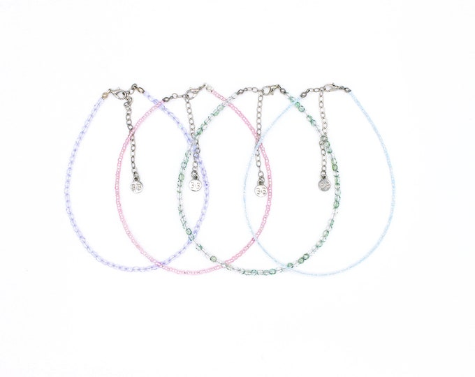 Featured listing image: Beaded Choker Collection - Pastels
