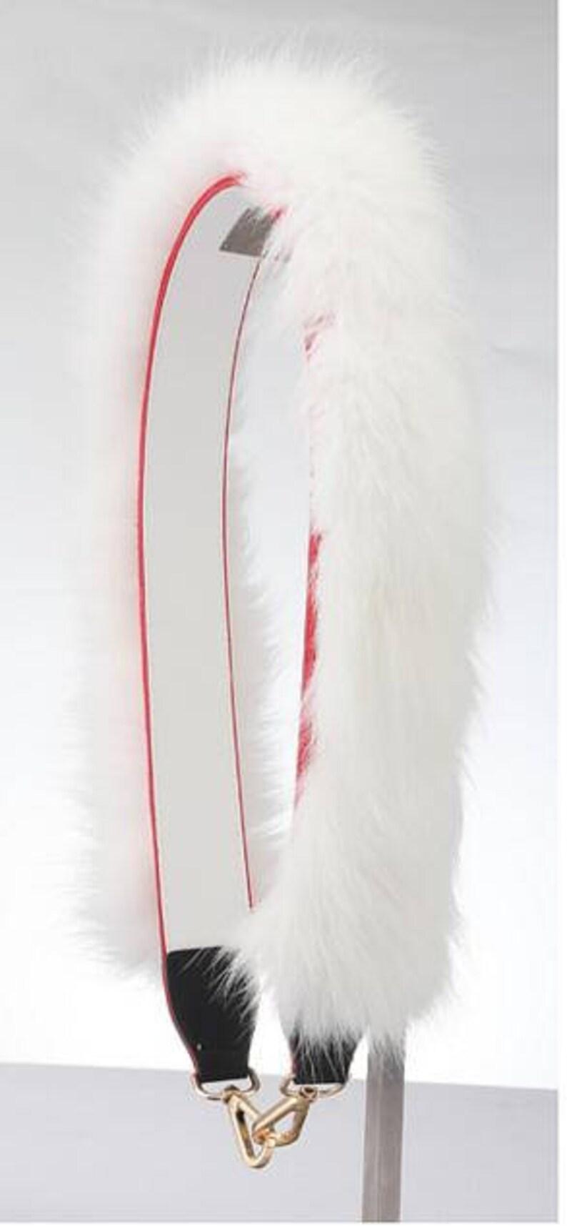 1eb7d2a254 White Furry Bag Straps Pom Pom Puff Handbag Accessories purse