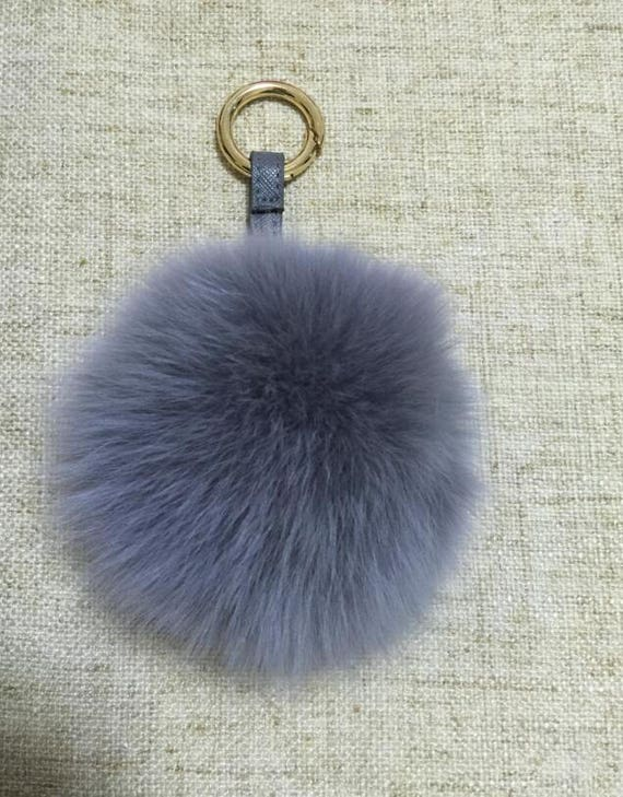 51a2e6a59e86 Pompoms Keychain Real Fox Fluffy Bag Charm
