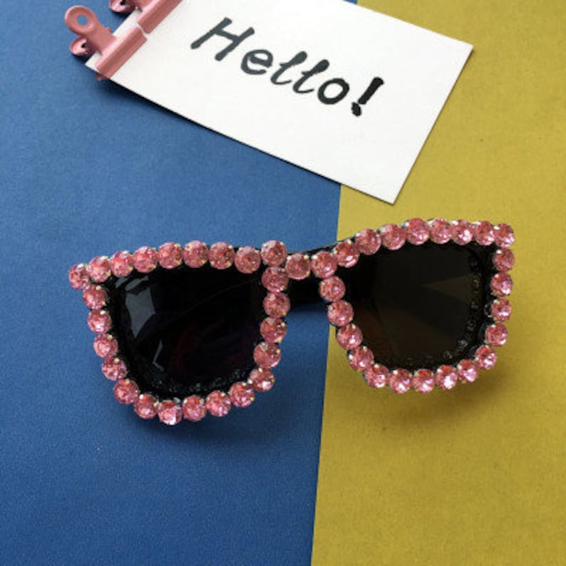 ab603692c5fcc Pink bling sunglasses sparkly pink crystal stones shiny