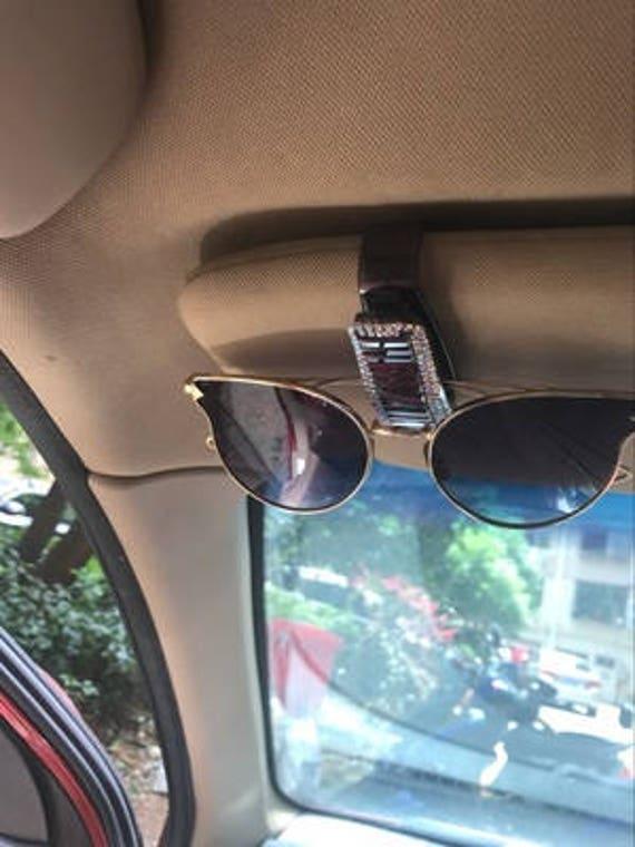 custom bling bling sun visor clip cute car accessories for  f4d0e1d26ed