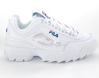 bb2c8da0940 Swarovski Fila Disruptor Premium Shoes Blinged Out with Swarovski Crystals  Bling Shoes