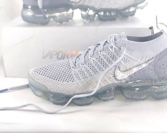 sports shoes 509b7 509e9 Swarovski Nike Women s Air VaporMax Flyknit 2 in NEW COLOR white pink  Customized With Swarovski Crystals, Bling Nike Shoes