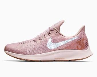 Swarovski Nike Air Zoom Pegasus 35 Shoes in Rose Pink Customized with  Swarovski Crystals - Rose Gold 21448be36b7f