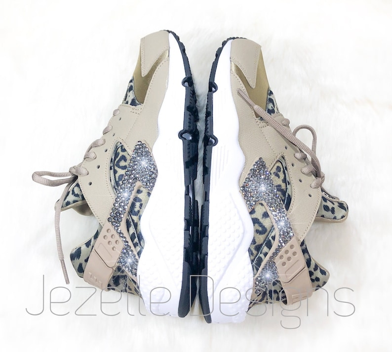 05505c063c6b9 Last Call Swarovski Nike Air Huarache Run Ultra Animal Print