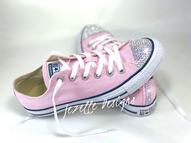 8071ef556bb1a PINK Bling Converse Glitter Kicks - Bedazzled Chucks - MANY Colors  available in these ULTIMATE Swarovski Bling Converse by Jezelle Designs