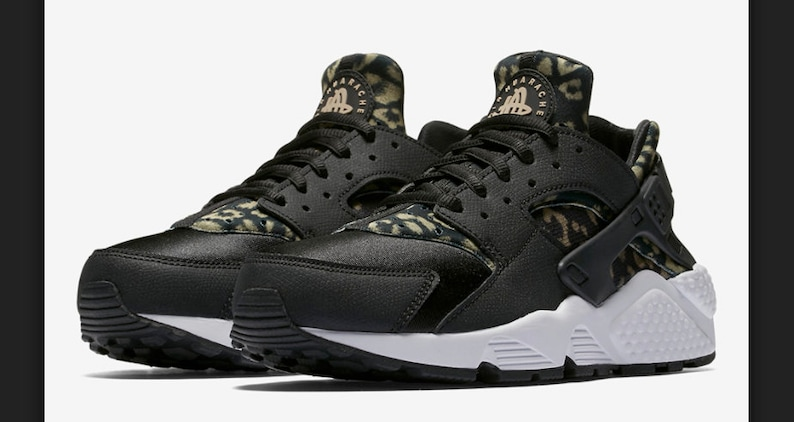 b5cc4935c030 Last Call Swarovski Nike Air Huarache Run Ultra Animal Print