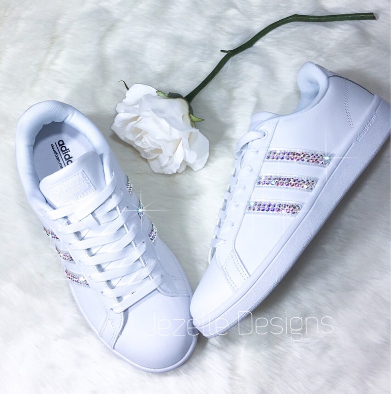 Women s Adidas Blinged Out with Swarovski Crystals  3ebff64681