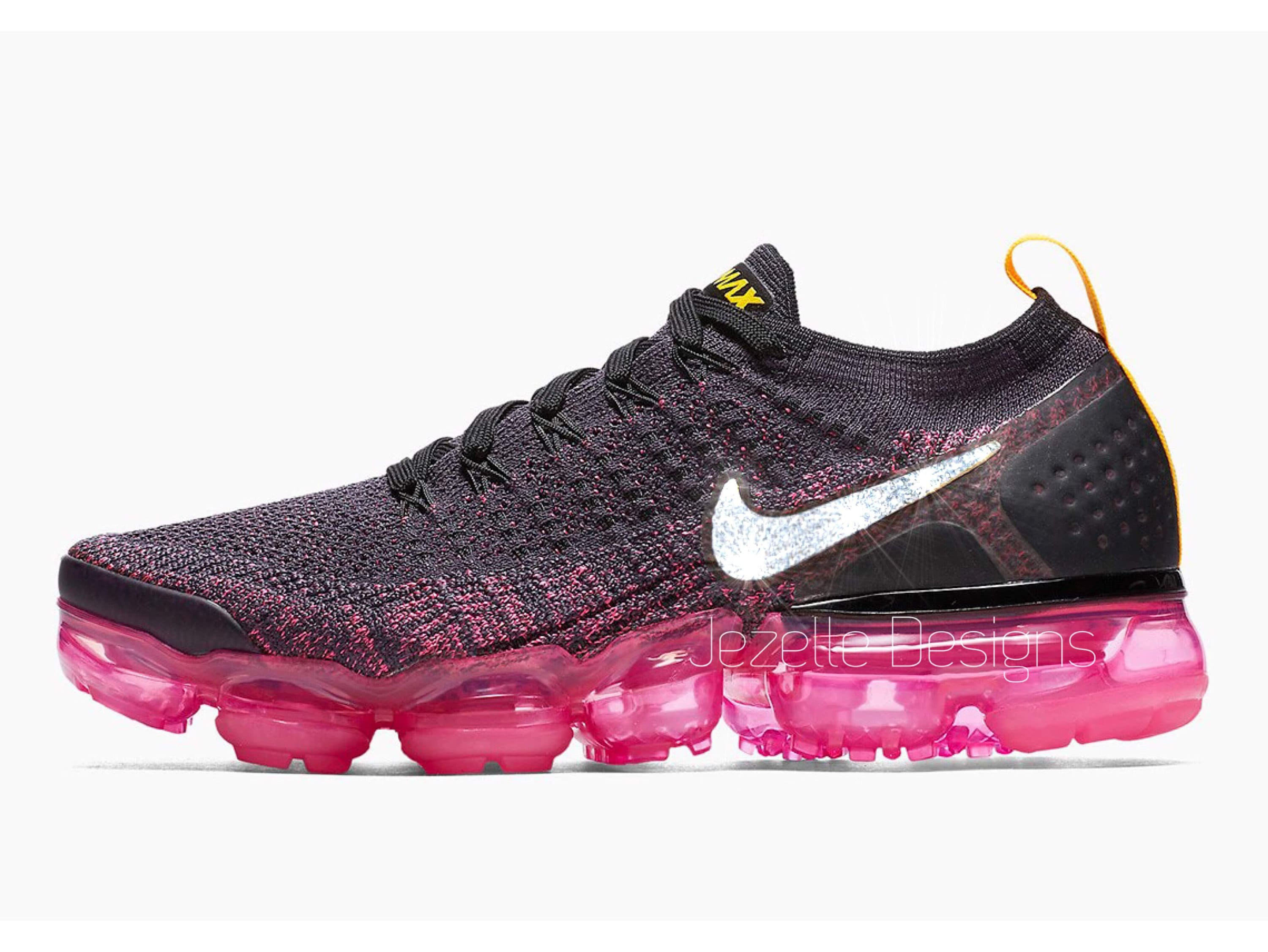 new arrival 56dcb 9001e Swarovski Nike Air VaporMax Flyknit 2 Custom Hand Jeweled w/ Swarovski  Crystals, Bling Nike Shoes, Gifts for Her, Nike Vapormax, Swarovski