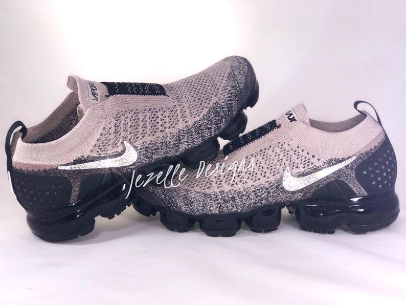 3ab68aa1d1 Swarovski Nike Air VaporMax Flyknit MOC 2 Running Shoes Custom | Etsy