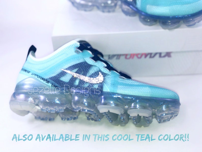 newest collection d2808 e352e SILVER Swarovski Nike Air VaporMax 2019 PREMIUM Running Shoes   Etsy