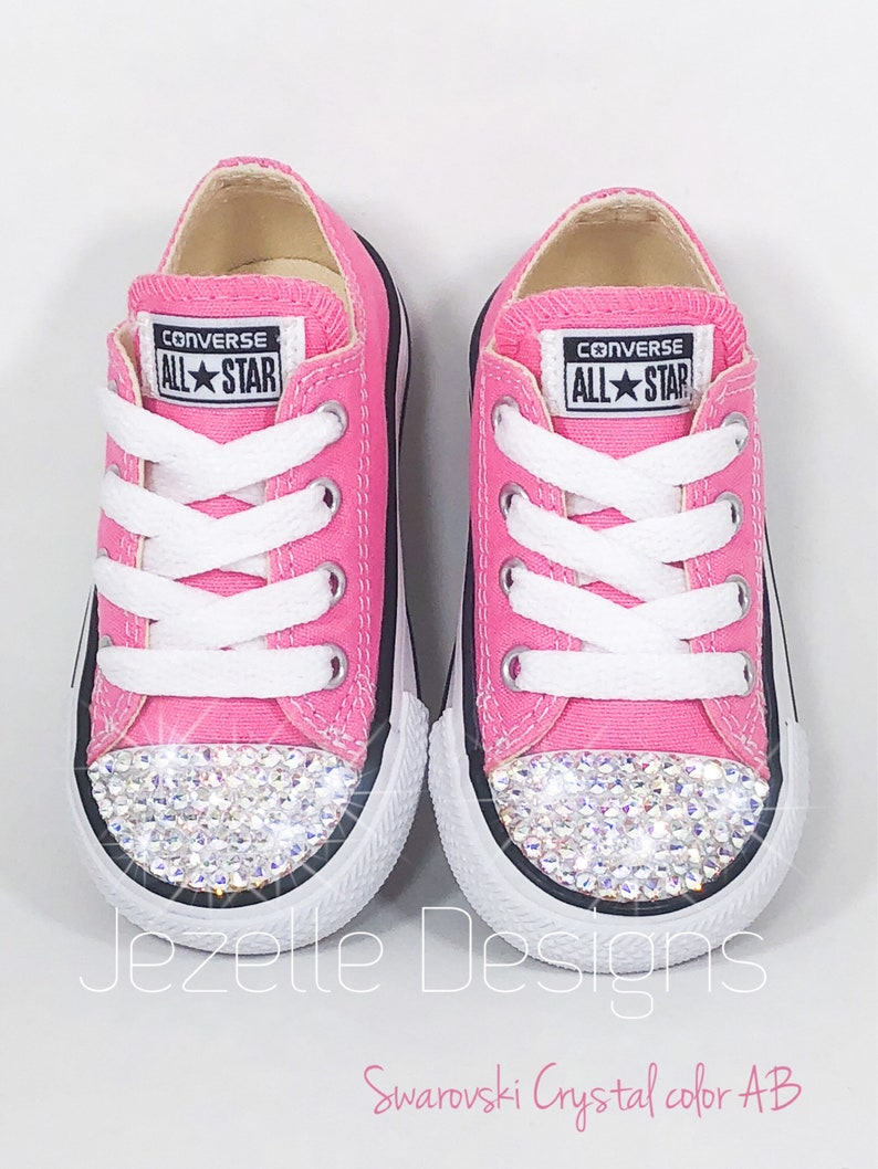 82943120b Bling Baby Shoes in Pink Genuine Swarovski Crystal Bedazzled
