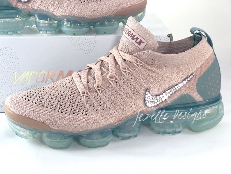 low priced 5231e e8bf8 Swarovski Nike Womens Air VaporMax Flyknit 2 in Mauve Customized With  Swarovski Crystals Bling Nike Shoes